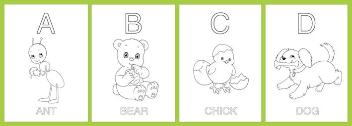 alfabetiere inglese da colorare