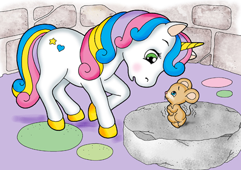 progetto di coding unplugged con unicorno