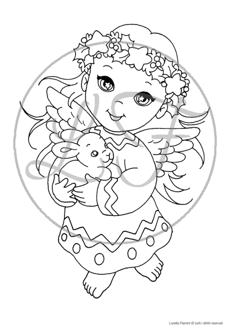 disegni di natale angelo