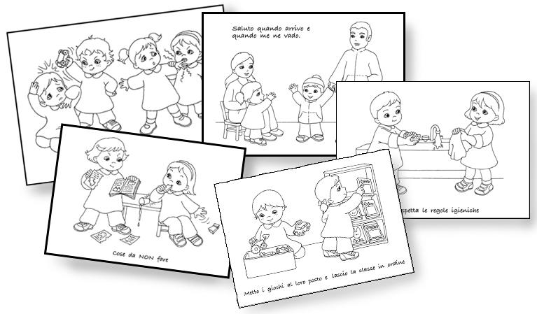 regole scolastiche disegni