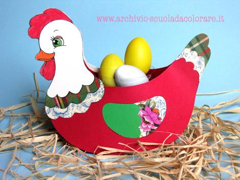 lavoretti di pasqua gallinella rossa