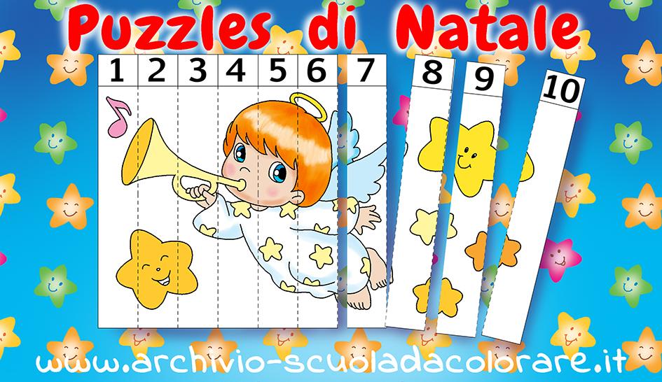 puzzle da colorare di natale