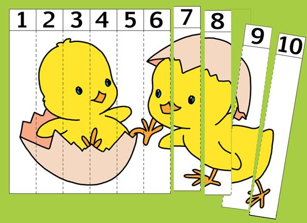 disegno puzzle numerato