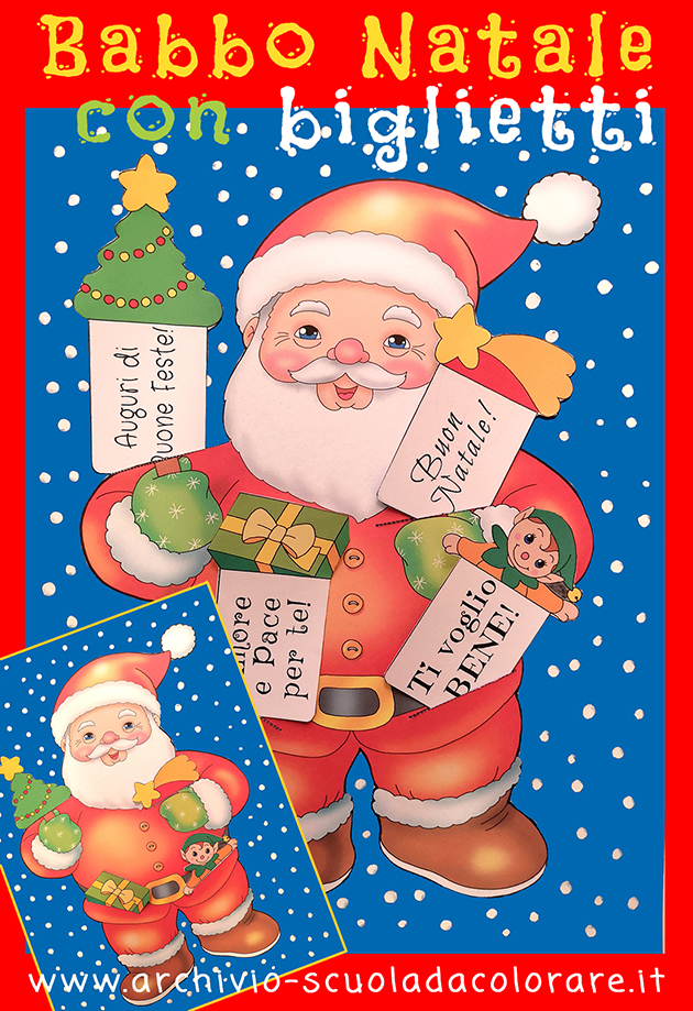 Bambini Babbo Natale Disegno.Lavoretti Di Natale Per Bambini Il Quadro Di Babbo Natale